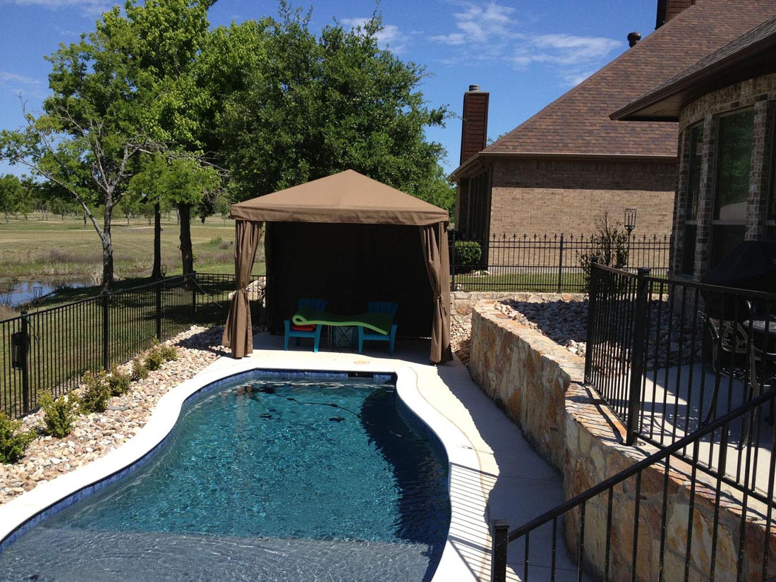 Residential cabanas shade structures dallas fort worth for Shade structures